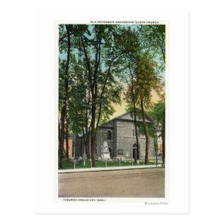 Exterior View of Protestant Dutch Church Postcard