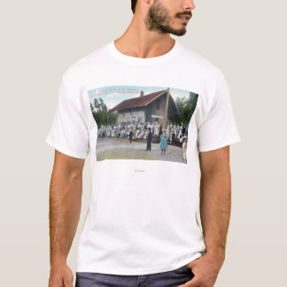 Exterior View of Railroad Station on 4th of T-Shirt