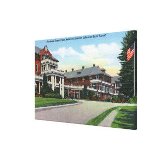Exterior View of Raybrook Sanatorium Canvas Print