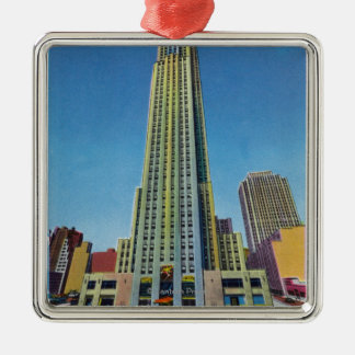 Exterior View of RCA Bldg, Rockefeller Center Christmas Ornament