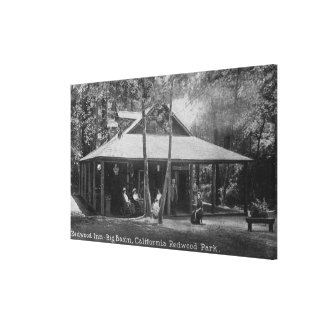 Exterior View of Redwood Inn Canvas Print