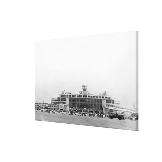 Exterior View of Seattle-Tacoma Int l Airport Stretched Canvas Print