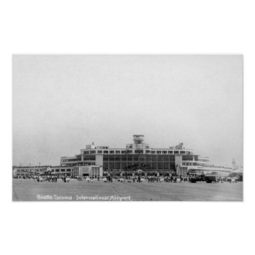 Exterior View of Seattle-Tacoma Int'l Airport Poster