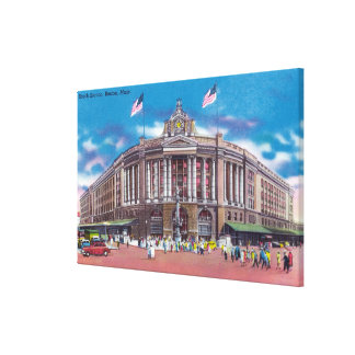 Exterior View of South Station Canvas Print