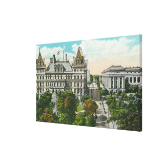 Exterior View of State Capitol & Educational Canvas Print