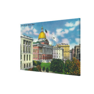Exterior View of State House Canvas Print