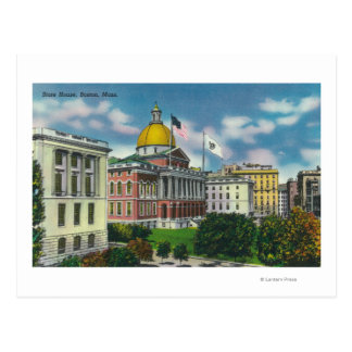 Exterior View of State House Postcard