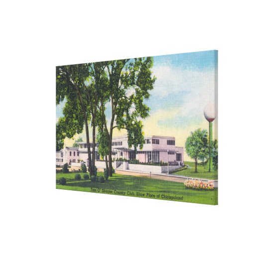 Exterior View of Tam O'Shanter Country Club Stretched Canvas Prints