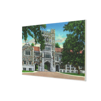 Exterior View of Taylor Hall, Vassar College Canvas Print
