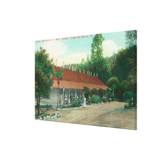 Exterior View of the Annex and the Hotel Grounds Canvas Print