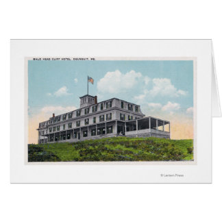 Exterior View of the Bald Head Cliff Hotel Greeting Card