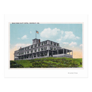 Exterior View of the Bald Head Cliff Hotel Postcard