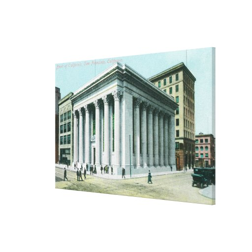 Exterior View of the Bank of California Stretched Canvas Prints