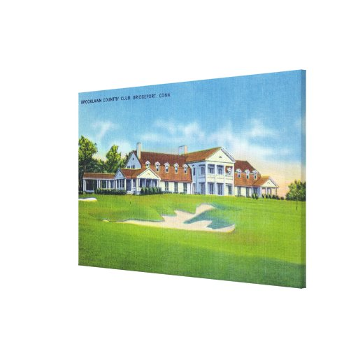 Exterior View of the Brooklawn Country Club Canvas Prints
