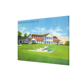 Exterior View of the Brooklawn Country Club Stretched Canvas Prints