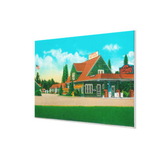 Exterior View of the Capital CottagesSalem, OR Canvas Print