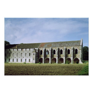 Exterior view of the Cistercian Abbey Poster