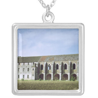 Exterior view of the Cistercian Abbey Silver Plated Necklace