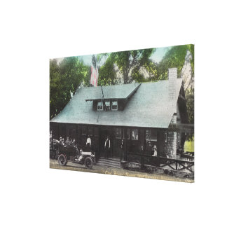 Exterior View of the Club House Stretched Canvas Print