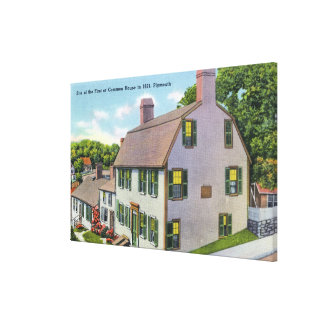 Exterior View of the Common House Canvas Print