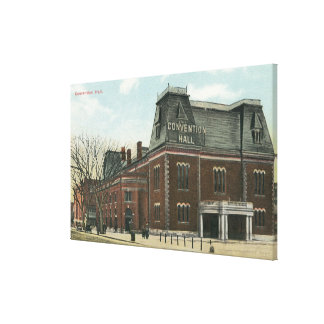 Exterior View of the Convention Hall Canvas Print