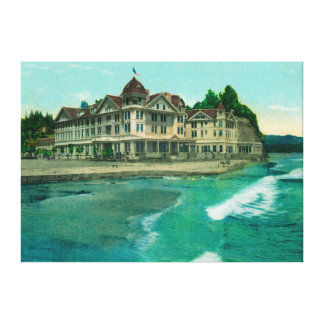 Exterior View of the Famous Capitola Hotel Canvas Print