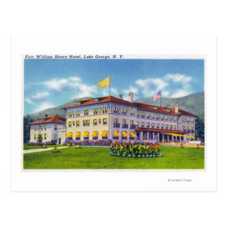Exterior View of the Fort William Henry Hotel Postcard