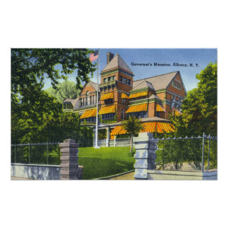 Exterior View of the Governor s Mansion Print