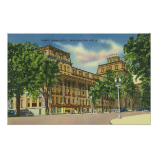 Exterior View of the Grand Union Hotel Poster