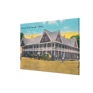 Exterior View of the Greenville Hotel Canvas Print