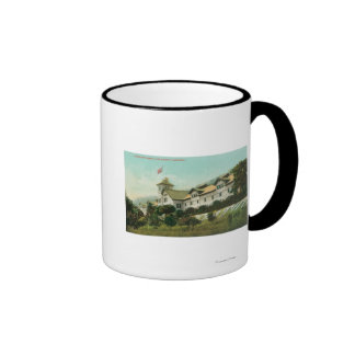 Exterior View of the Greystone Winery Coffee Mugs
