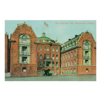 Exterior View of the Hahnemann Hospital Poster
