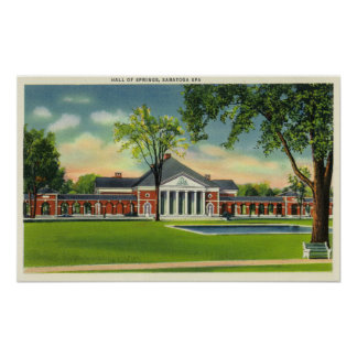 Exterior View of the Hall of Springs # 2 Poster