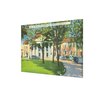 Exterior View of the Hall of Springs Canvas Print
