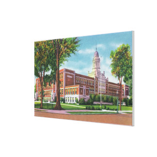 Exterior View of the High School Canvas Prints