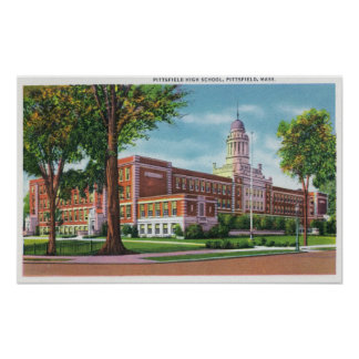 Exterior View of the High School Poster
