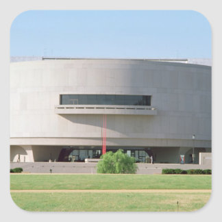 Exterior view of the Hirshhorn Museum, 1974 ) Square Sticker