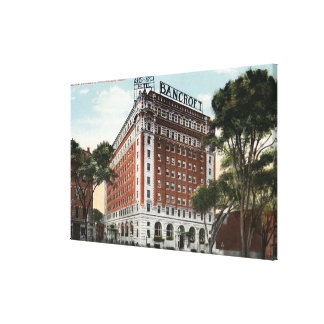 Exterior View of the Hotel Bancroft Canvas Print
