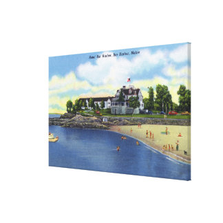 Exterior View of the Hotel Bar Harbor Canvas Print