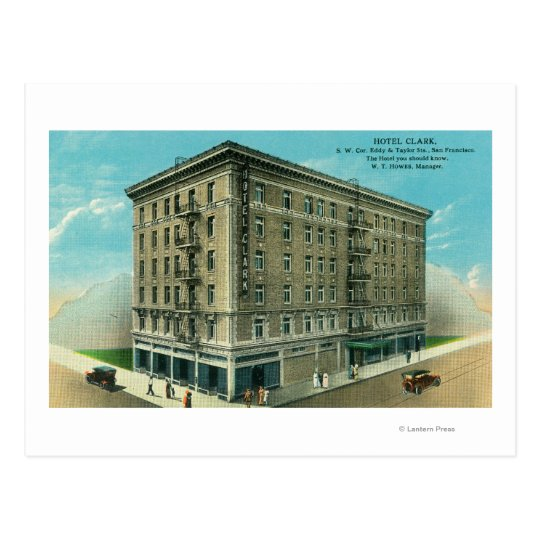 Exterior View of the Hotel Clark Postcard
