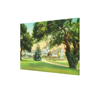 Exterior View of the Hotel del Monte Stretched Canvas Print