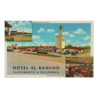 Exterior View of the Hotel el Rancho Poster
