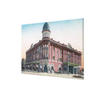 Exterior View of the Hotel Stewart Canvas Print
