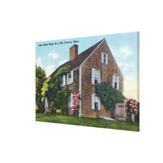 Exterior View of the John Alden House Canvas Print