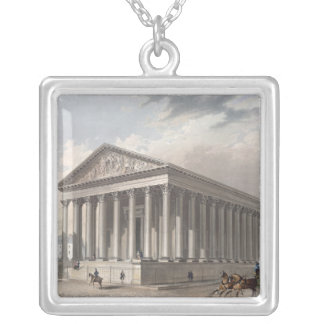 Exterior view of the Madeleine, Paris Silver Plated Necklace