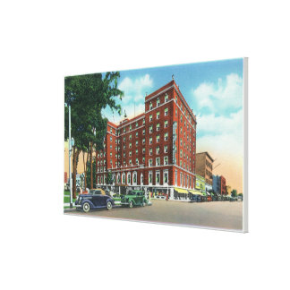 Exterior View of the Mark Twain Hotel Canvas Print