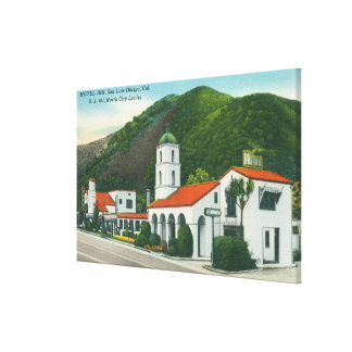 Exterior View of the Motel Inn Canvas Print