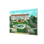 Exterior View of the New Atascadero Inn Bungalow Stretched Canvas Print