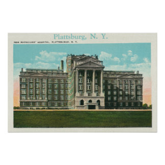 Exterior View of the New Physician s Hospital Print
