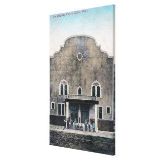 Exterior View of the New Ridgeway Theatre Canvas Print